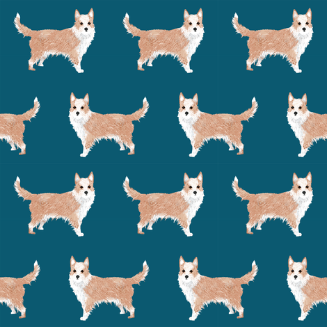 portuguese podengo pequeno fabric dogs fabric simple dog design - sapphire fabric by petfriendly on Spoonflower - custom fabric