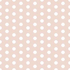 Dot dot: white on pale pink by Su_G