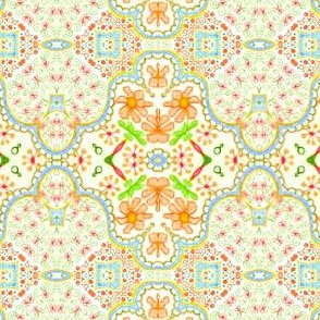 Orange blossom medallion