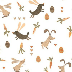 Bunnies on the run - brown