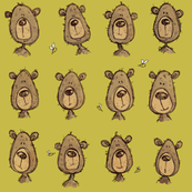 Honey bear - greenish