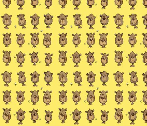 Honeybear - yellow fabric by mulberry_tree on Spoonflower - custom fabric