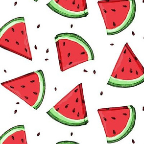 Tossed watermelons - white