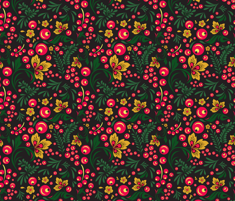 Khokhloma fabric by maria_minkin on Spoonflower - custom fabric