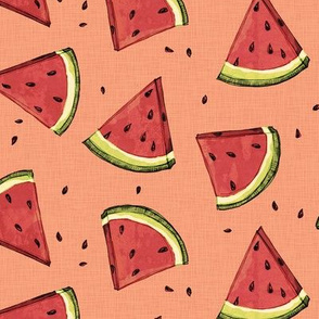 Tossed watermelons - vintage