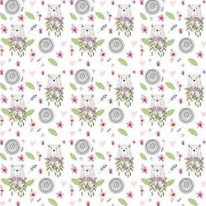 "2"" Floral Woodland Bear"