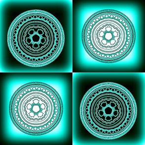 Fractal Mandala Checkerboard 2