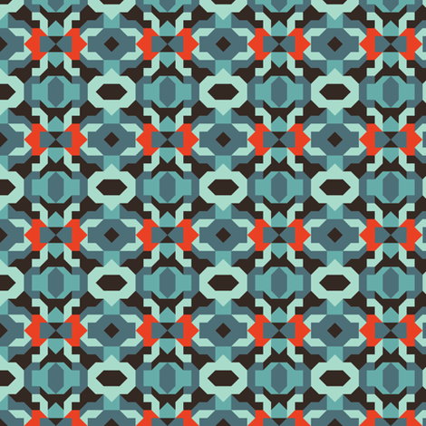 Blue Crystal fabric by eh&co on Spoonflower - custom fabric
