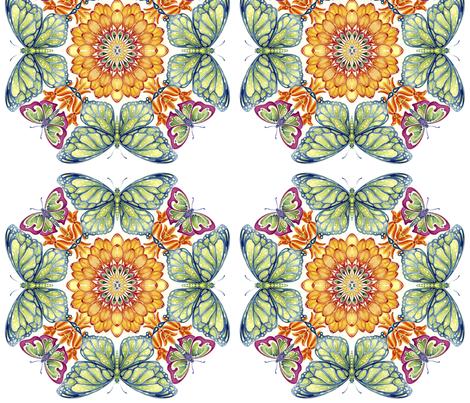 PrettyPollinators fabric by scwtrcolors on Spoonflower - custom fabric