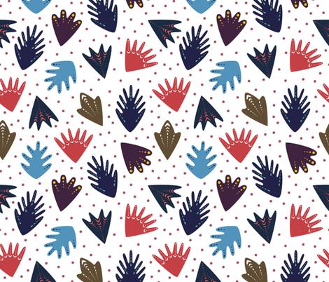 Scandi Leaves fabric by kiraseiler on Spoonflower - custom fabric