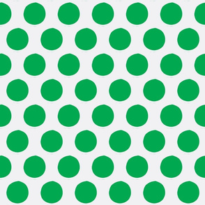 More...Polk-a-dots (in green and white)