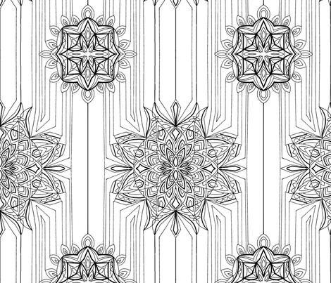 mandala fabric by funny_curls on Spoonflower - custom fabric