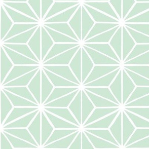 Star Tile Pale Duck Egg Green