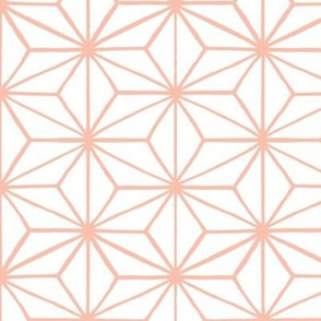 Star Grid White & Peach