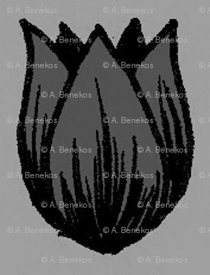 Doodle Tulip - Goth