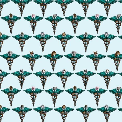 Med_Scrubs_blue fabric by deva_kolb on Spoonflower - custom fabric