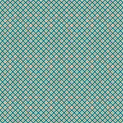 Mosaic Diamonds Ceramic Blue fabric by sarah_treu on Spoonflower - custom fabric