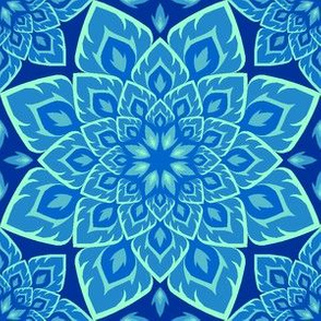 06211629 : S84 fire mandala : in blue blazes