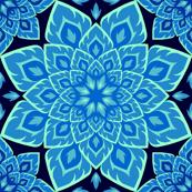 S84 fire mandala : in blue blazes