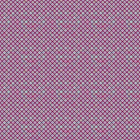 Mosaic Diamonds Deep Magenta (Tiny) fabric by sarah_treu on Spoonflower - custom fabric