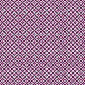 Mosaic Diamonds Deep Magenta (Tiny)