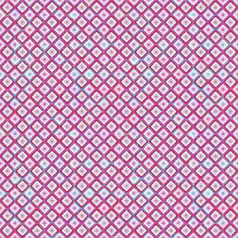 Mosaic Diamonds Magenta fabric by sarah_treu on Spoonflower - custom fabric