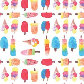 Popsicle watercolor pattern