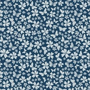 Classic in navy floral with butterflies