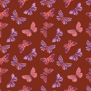 Classic in red floral with butterflies