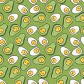 egg avocado pattern