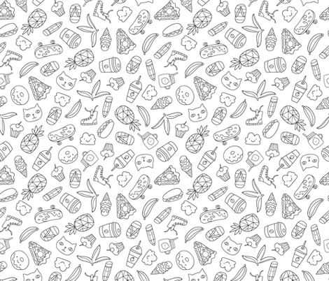 summer stickers  fabric by kostolom3000 on Spoonflower - custom fabric