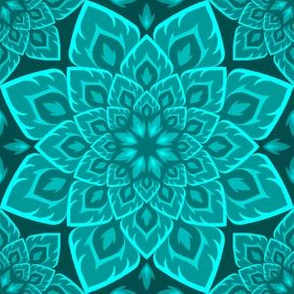 06211893 : S84 fire mandala : cyan teal blue