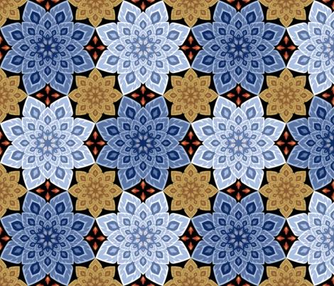 06211894 : S84 fire mandala : wood + water fabric by sef on Spoonflower - custom fabric