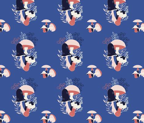 Mushroom cluster 5 fabric by jmclemenson on Spoonflower - custom fabric