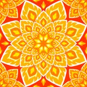 S84 fire mandala : burning gold