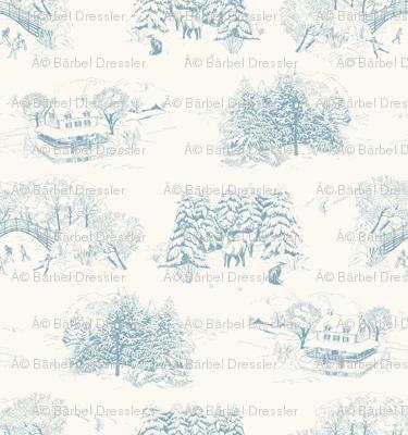 Winter Toile Blue