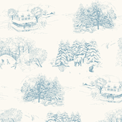 Winter Toile Blue