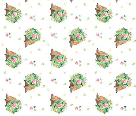 "7"" Hedgehog Love / 90 degrees fabric by shopcabin on Spoonflower - custom fabric"