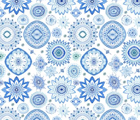mandala fabric by laurenthomasdesigns on Spoonflower - custom fabric