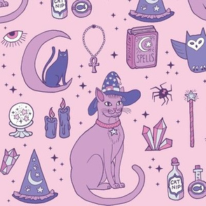 Mystical Cats in Pink