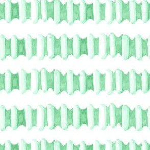 Watercolor Stripe Jade Green || Modern  succulent southwest white spring grass Ombre tile _Miss Chiff Designs