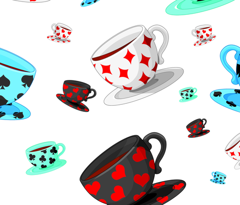 Suited Tea Cups fabric by saraschelle on Spoonflower - custom fabric
