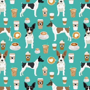 Rat Terrier dog fabric coffee pattern 1