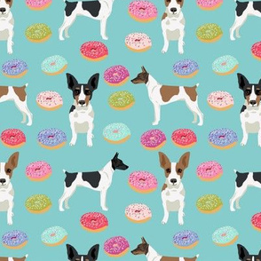 Rat Terrier dog fabric donuts pattern 1
