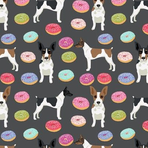 Rat Terrier dog fabric donuts pattern 3