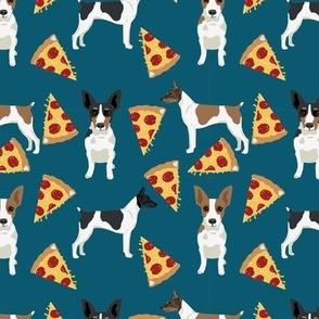 Rat Terrier dog fabric pizza pattern 1