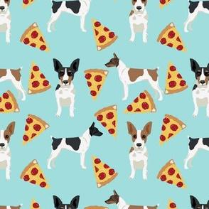 Rat Terrier dog fabric pizza pattern 2
