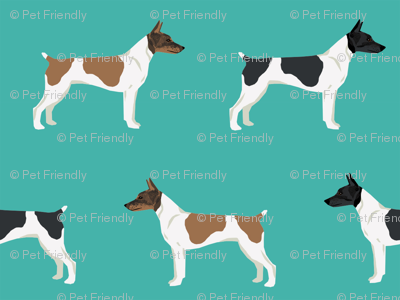 Rat Terrier dog fabric simple pattern 3