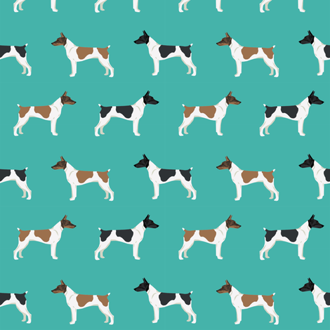 Rat Terrier dog fabric simple pattern 3 fabric by petfriendly on Spoonflower - custom fabric