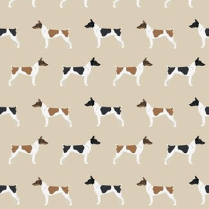 Rat Terrier dog fabric simple pattern